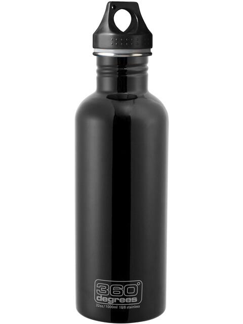 360° degrees Stainless Drink Bottle 1000ml, black